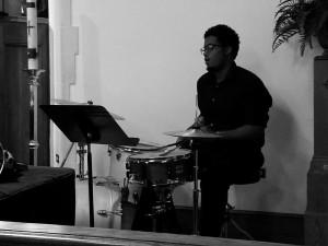 Darius Dawson drummer hymnfest 9-28-14