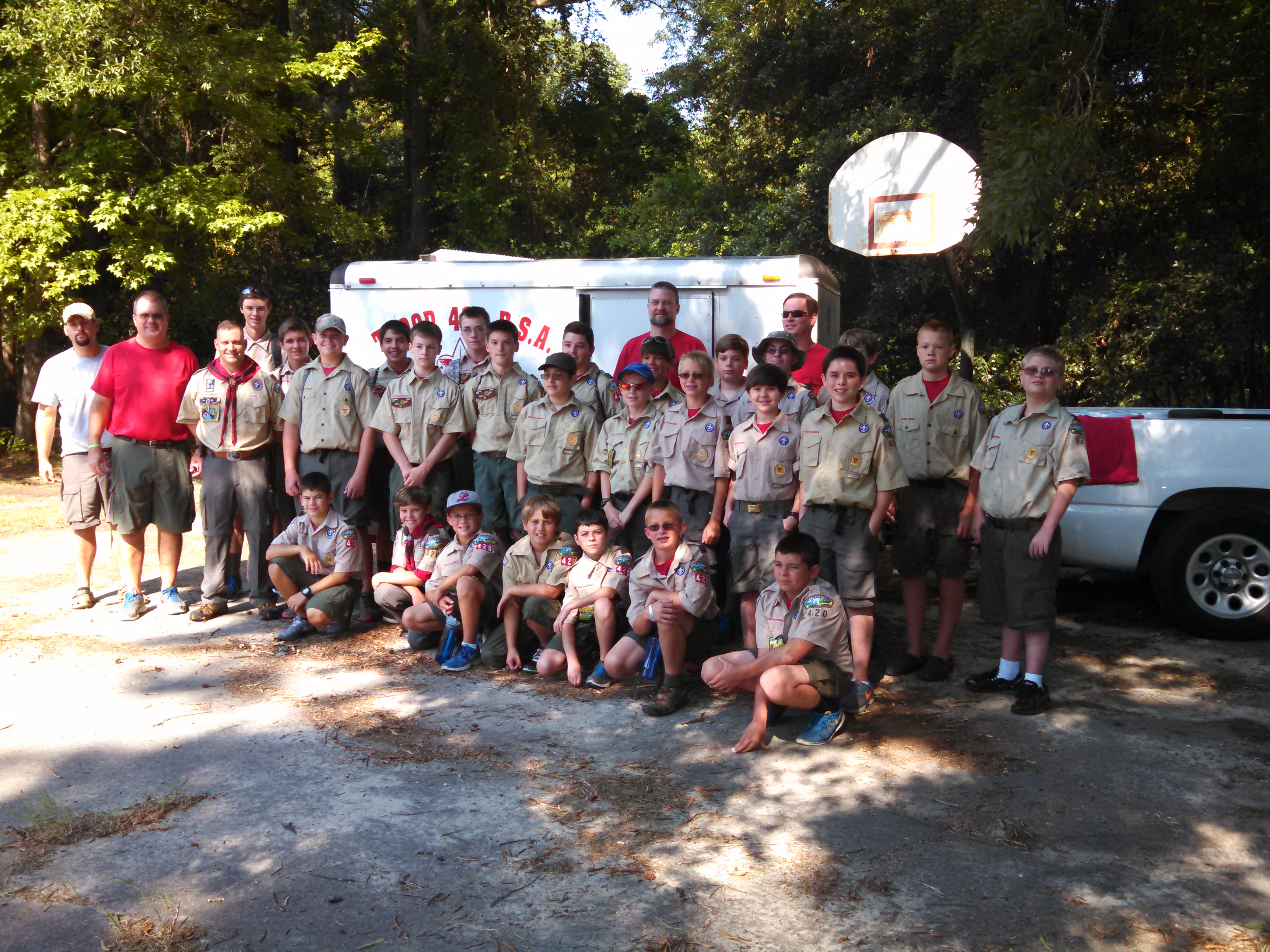 Scout Camp 2015-departure