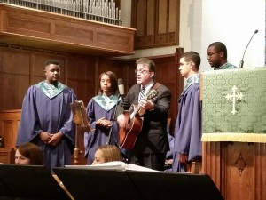 neal and students hymnfest 9-28-14